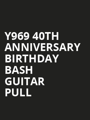 Y969 40th Anniversary Birthday Bash Guitar Pull at Studio Bee - Pikes Peak Center